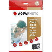Printer Paper  - AgfaPhoto A4 260gm Gloss Photo Inkjet Paper (20 Sheets)