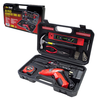 Tool Sets  - Am-Tech 39pc Assorted DIY Tool Kit with Electric Screwdriver and Storage Case