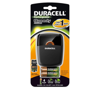 Duracell 1hr AA / AAA Speedy Battery Charger - Includes 2 x AA 1700mAh & 2 x AAA 750mAh Batteries