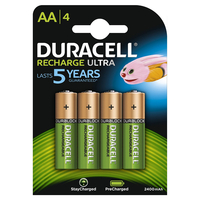 Duracell Duralock Precharged Rechargeable AA Batteries (2500mAh) - 4 Pack