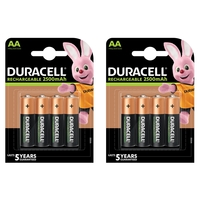 Duracell Rechargeable AA 2500mAh batteries - 8 Pack