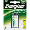 Energizer ACCU Power Plus 9V PP3 BLOCK Ni-Mh Rechargeable Battery 175mAh - Pack of 1