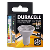 **EOL** Duracell GU10 LED Spot Light Bulb 5.5W 50W Equivalent Frosted Glass Warm White