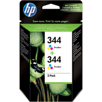 HP 344 Tri-Colour Ink Cartridge (C9505EE) Twin Pack