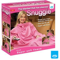 Clothing  - JML Snuggie Blanket - Soft-to-Touch Fleece with Large, Loose Sleeves - Pink