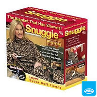 Clothing  - JML Snuggie Blanket - Wild Side - Soft-to-Touch Fleece with Large, Loose Sleeves - Leopard