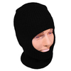 Open Face Balaclava One Size Fits All - Black