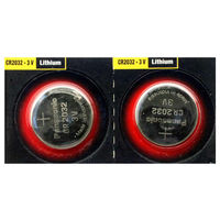 Batteries  - Panasonic Cell Power CR2032 Lithium Coin Cell Batteries - 2 Pack