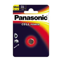 Batteries  - Panasonic Cell Power SR44 (AG13 / SG13 / LR44 / A76 / S76 / EPX76) Silver Oxide Button Cell Battery - SINGLE BATTERY