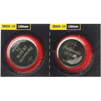 Batteries  - Panasonic CR2016 Lithium Coin Cell Batteries - 2 Pack Super Special *** Priced To Clear ***