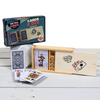 Retro Games Poker Cards And Dice In a Wooden Box