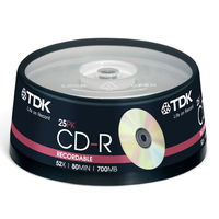 HD-DVD blanks  - TDK CD-R Recordable Discs 80Min - 52x Speed - 700mb - 25 Pack