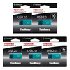 Other Memory Toshiba TransMemory Flash Drive USB 2.0 Memory Stick - AQUA - 16GB - 5 PACK
