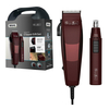 Wahl Groom Ease Hair Clipper & Nose Ear Trimmer Maroon 18 Piece Shaver Gift Set