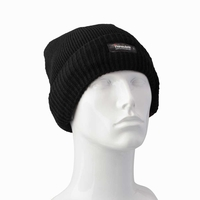 Beanies  - Waterproof and Windproof Acrylic Thinsulate Thermal Winter Beanie Hat - Black
