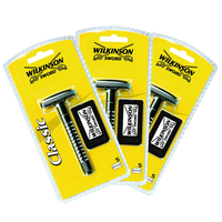 Consumer Electronics  - Wilkinson Sword Classic Wet Shave Razor with 5 Double Edge Blades - Value 3 Pack