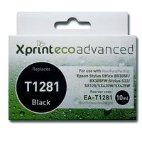 Ink Cartridges for printers  - Xprint EcoAdvanced Remanufactured Epson Inkjet / Print Cartridge - T1281 (Black) - With Inkfinity Ink
