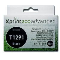 Ink Cartridges for printers  - Xprint EcoAdvanced Remanufactured Epson Inkjet / Print Cartridge - T1291 (Black) - With Inkfinity Ink