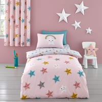 Bed Sheets  - Duvet Cover Set for Cotbed Happy Stars