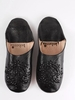 Bohemia Design Moroccan Babouche Sequin Slippers Slight Seconds,  Large (),  Black