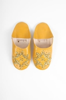Slippers & Clogs  - Bohemia Design | Moroccan Babouche Sequin Slippers Slight Seconds, Large () , Mustard
