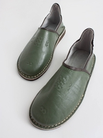 Slippers & Clogs  - Bohemia Design | Moroccan Berber Babouche Slippers, Olive