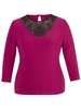Fuchsia Embellished Top with Sleeve