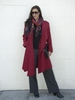 Red Double Collar Coat