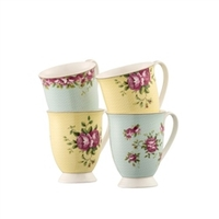 Home & Garden  - Archive Rose Footed Mugs Set
