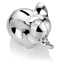 Baby Products  - Rhodium Plate Elephant Money Bank