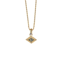 Clothing & Accessories  - Rhombus Pendant Enamel & Blue Stones