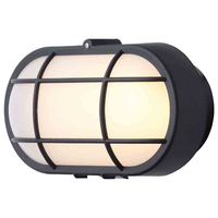 Outdoor Lighting  - Stanley Vasman Outdoor Oval LED Bulkhead Wall or Ceiling Light, Black