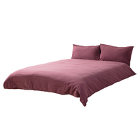 General Lighting Accessories  - Super King Stonewashed Cotton Bedding Set, Raspberry