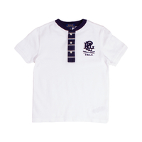 Clothing & Accessories  - Ralph Lauren BOYS White w/Stripe Placket T-Shirt