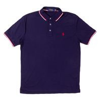 Clothing & Accessories  - Ralph Lauren Classic Navy Tipped Polo