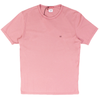 Clothing & Accessories  - C.P. Company Roan Rouge Logo Print Mako Cotton Crew Neck T-Shirt - X-Large