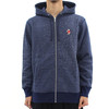 Acapulco Gold Navy Angry Lo Bear Full Zip Hoodie