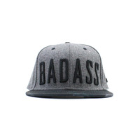 T-Shirts, Polos & Tops  - Beastin Badass Grey Adjustable Snapback