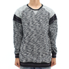 Black Scale Mars Pullover Sweat Shirt Grey