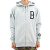Black Scale Qualite Logo Zip Hoody Grey