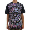 Black Scale Stained Glass Tee Black