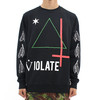 Black Scale Violate Pullover Crew Neck Black