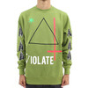 Black Scale Violate Pullover Crew Neck Green