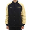 Crooks And Castles Ballin Mane Baseball Black Jacket