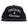 Crooks And Castles Cocaine And Caviar Black Adjustable Snapback.