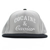 Crooks And Castles Cocaine And Caviar Grey Adjustable Snapback.