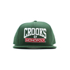 Crooks And Castles Time Is Money Green Adjustable Snapback