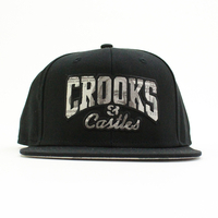 T-Shirts, Polos & Tops  - Crooks n Castles Currency Core Snapback Black