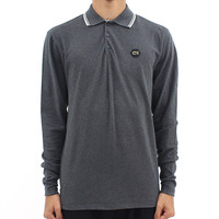 Jackets  - Cruyff Long Sleeve Dark Grey Polo.
