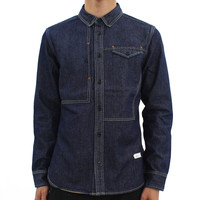 Mens  - D.I.E Dark Blue Denim Lw Shirt